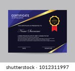modern certificate vector | Shutterstock .eps vector #1012311997