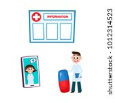 vector flat adult male doctor ... | Shutterstock .eps vector #1012314523