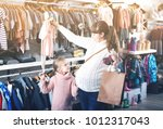 happy pregnant mother and...   Shutterstock . vector #1012317043