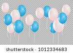 blue and pink  helium balloon.... | Shutterstock .eps vector #1012334683