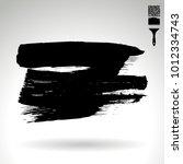 black brush stroke and texture. ... | Shutterstock .eps vector #1012334743