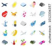 flier icons set. isometric set... | Shutterstock .eps vector #1012336357