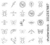 fly voyage icons set. outline... | Shutterstock .eps vector #1012337887