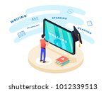concept on line learning and... | Shutterstock . vector #1012339513