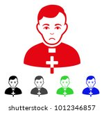 sad catholic priest vector... | Shutterstock .eps vector #1012346857