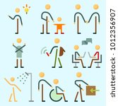 icons set about human with male ... | Shutterstock .eps vector #1012356907