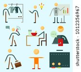 icons set about human with... | Shutterstock .eps vector #1012356967