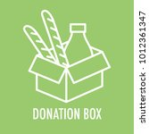 donation box line icon. logo... | Shutterstock .eps vector #1012361347