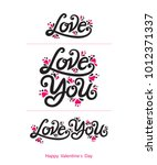 love you  love vector text.... | Shutterstock .eps vector #1012371337