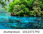 view of colorful lake in... | Shutterstock . vector #1012371793