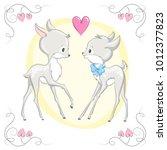animal illustration cute little ... | Shutterstock .eps vector #1012377823
