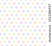 simple colorful easter seamless ... | Shutterstock .eps vector #1012386937