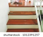 Wooden Stairs In House Is Deca...