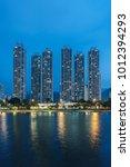 high rise residential building... | Shutterstock . vector #1012394293
