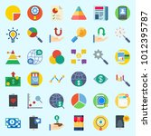 icons set about marketing with... | Shutterstock .eps vector #1012395787