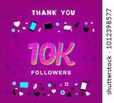 10k followers thank you banner... | Shutterstock .eps vector #1012398577