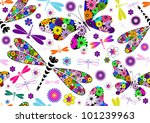 Seamless White Floral Pattern...