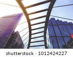 the metropolis and sky walk... | Shutterstock . vector #1012424227