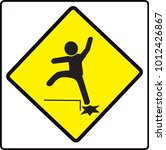 beware step sign  caution... | Shutterstock .eps vector #1012426867