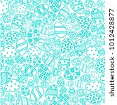 seamless pattern with cute... | Shutterstock . vector #1012428877