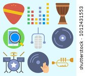 icons set about music with... | Shutterstock .eps vector #1012431553