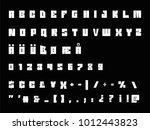 vector alphabet numbers and... | Shutterstock .eps vector #1012443823