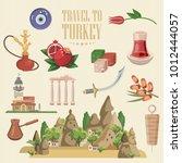 turkey vector vacations... | Shutterstock .eps vector #1012444057