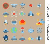 icon set about universe with... | Shutterstock .eps vector #1012444213