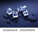 ice cubes image | Shutterstock . vector #1012455343
