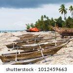 traditional african wooden... | Shutterstock . vector #1012459663
