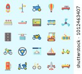 icons set about transportation... | Shutterstock .eps vector #1012463407
