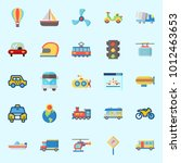 icons set about transportation... | Shutterstock .eps vector #1012463653