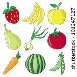 vector. 9 vector images. food b. | Shutterstock .eps vector #101247127