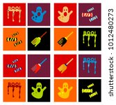 assembly flat icons halloween... | Shutterstock .eps vector #1012480273