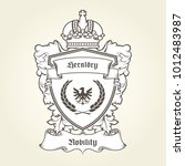 coat of arms template with... | Shutterstock .eps vector #1012483987