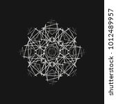 sacred geometry. graphic... | Shutterstock .eps vector #1012489957