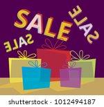 poster sale vector template   Shutterstock .eps vector #1012494187