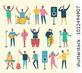 vector set in a flat style of... | Shutterstock .eps vector #1012494907
