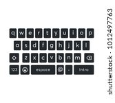 vector modern keyboard of...