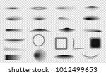 set of realistic vector shadows ... | Shutterstock .eps vector #1012499653