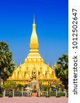pha that luang temple  the...   Shutterstock . vector #1012502647