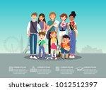 international students group...   Shutterstock .eps vector #1012512397