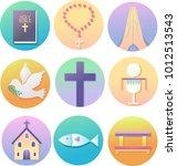 illustration of christian icons ... | Shutterstock .eps vector #1012513543