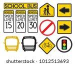 illustration of street warning... | Shutterstock .eps vector #1012513693