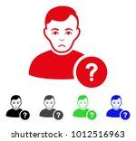 sadly user question vector icon.... | Shutterstock .eps vector #1012516963
