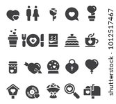 valentines day icons  black... | Shutterstock .eps vector #1012517467