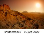 Wadi Rum desert,Jordan - stock photo