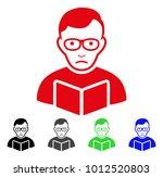 dolor reader student vector... | Shutterstock .eps vector #1012520803