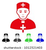 unhappy priest doctor vector... | Shutterstock .eps vector #1012521403