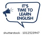 it is time to learn english... | Shutterstock .eps vector #1012523947